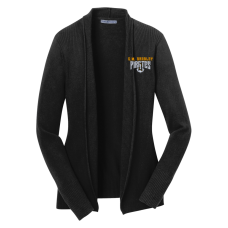 CM Bradley Staff 2018 Ladies Black Open Front Cardigan
